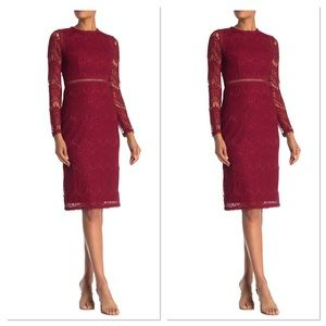 🆕 Long Sleeve Lace Midi Dress